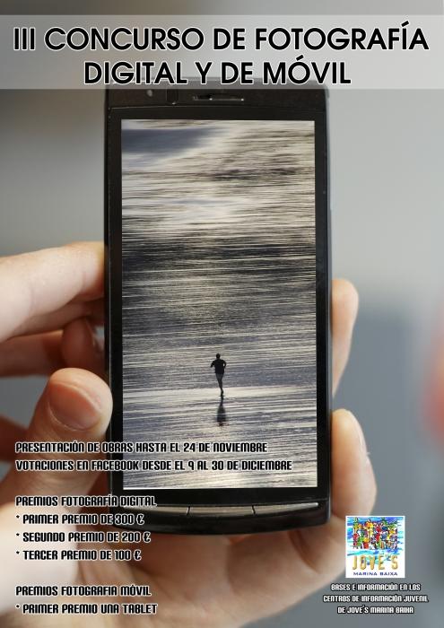 La Regidoria de Joventut de l'Ajuntament d'Altea, dins de la programació de l'associació Jove´s Marina Baixa, convoca a la població jove de la localitat a l'III Concurs de Fotografia Digital i de Mòbil