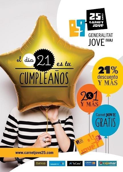 Carnet Jove celebra el seu 25 aniversari amb la campanya 'El dia 21 és el teu aniversari… '
