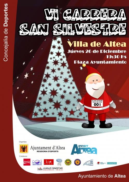 Altea celebra la sisena carrera 'Sant Silvestre' el pròxim 26 de desembre