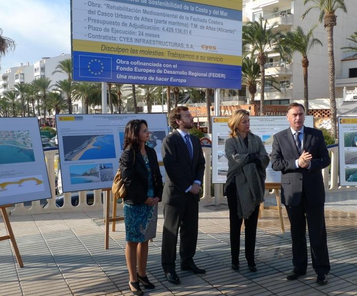 El Director General de Sostenibilitat de la Costa i el Mar anuncia l'inici de les obres del Front Litoral d'Altea