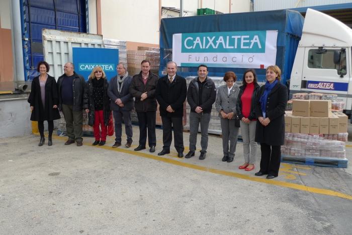 Caixaltea reparteix més de 7 tones d'aliments entre els col·lectius més desfavorits de la comarca