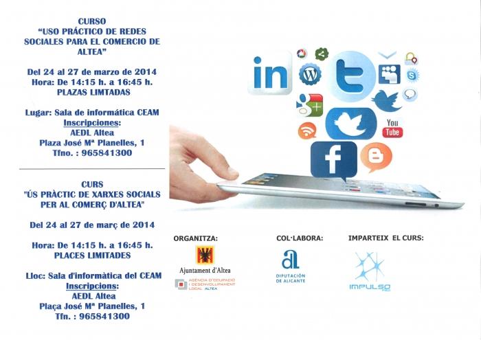 Comerç organitza la II edició del curs 'Use pràctic de xarxes socials per al comerç d'Altea'