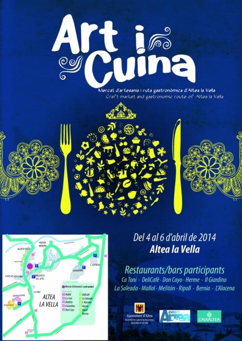 Altea la Vella acollirà del 4 al 6 d'abril la segona edició de 'Art i Cuina'