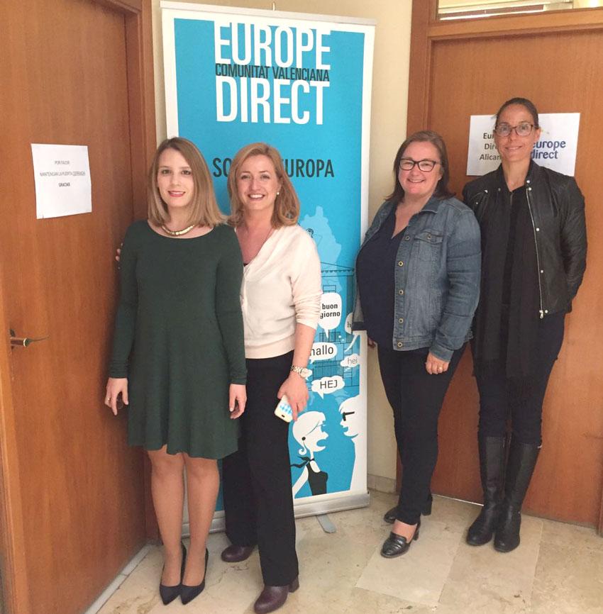 La regidora de Participació Ciutadana es reuneix amb responsables de l'Oficina Europe Direct d'Alacant per tal de col·laborar i difondre la tasca de l'OPE d'Altea