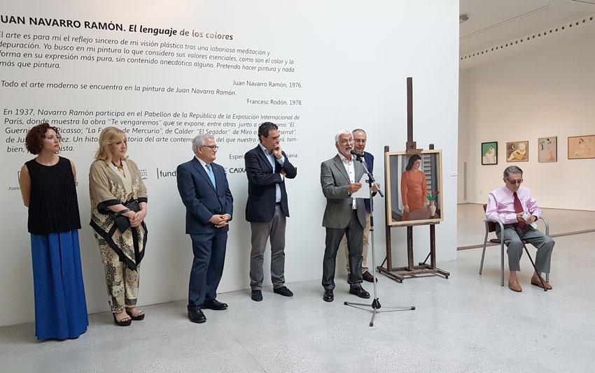 """Altea impulsa l'exposició """"Juan Navarro Ramón. El llenguatge dels colors"""" a la Fundació Frax"""