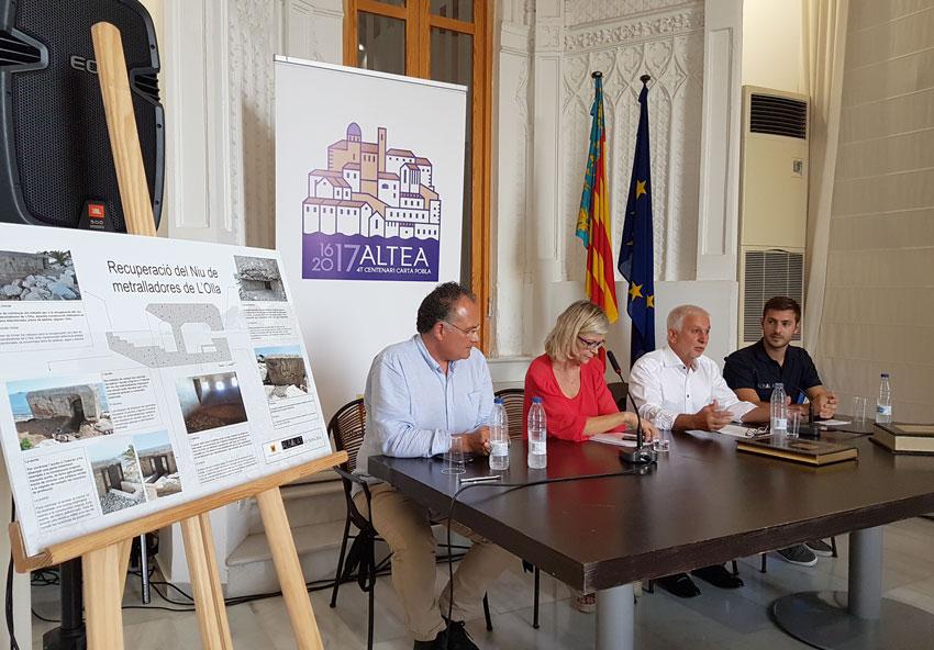 Es presenten els treballs de recuperació del niu de metralladores de l'Olla amb la presència de la consellera de Justícia