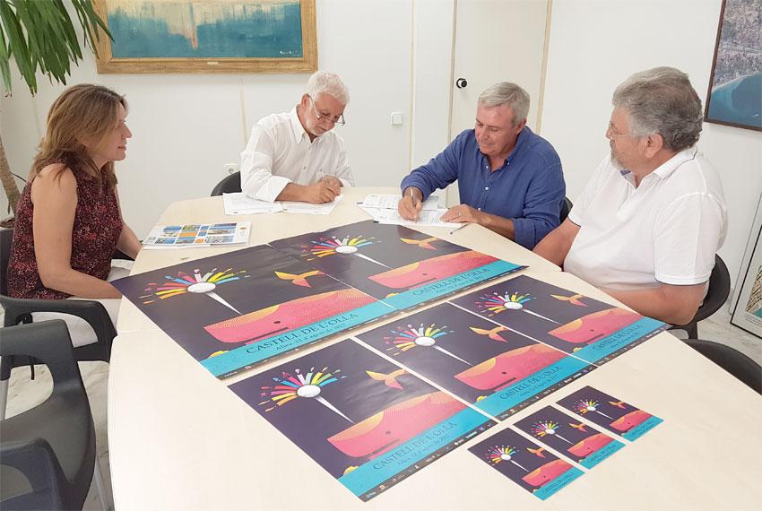 L'Ajuntament i la Confraria ''Castell de L'Olla'' signen el  nou conveni de col•laboració per a l'organització del castell de focs d'artifici