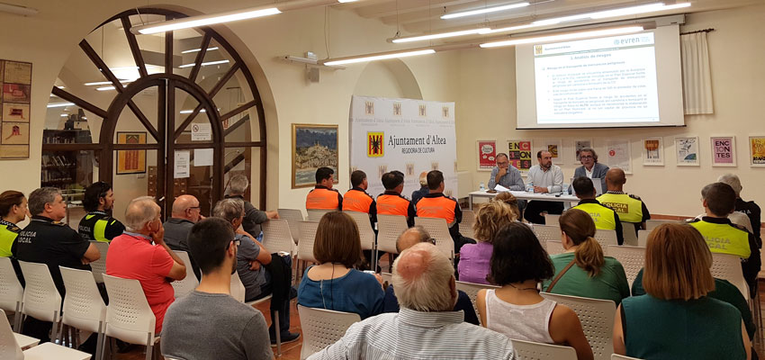 Altea presenta el seu Pla Territorial Municipal davant d'Emergències