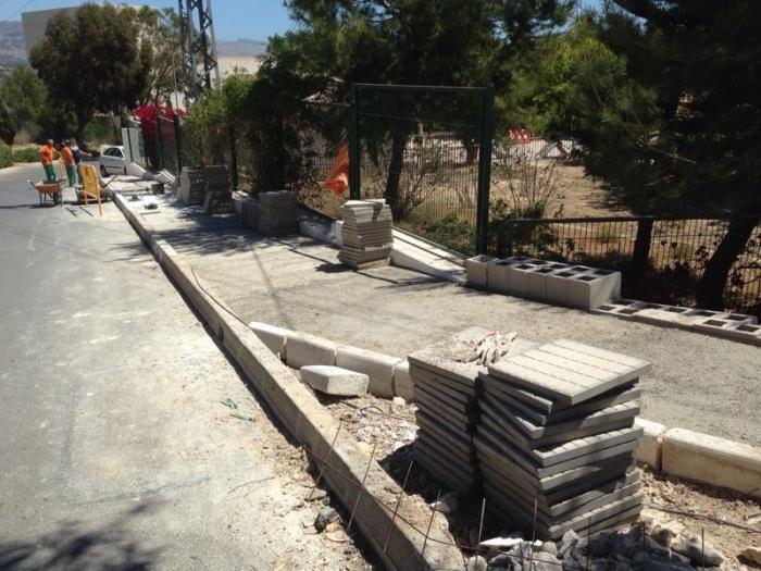 Infraestructures millora l'accés per als vianants des del pàrquing del Cementeri al Col·legi de Les Rotes