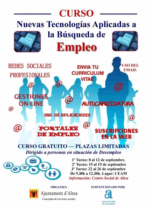 La Regidoria de Serveis socials organitza un curs de noves tecnologies aplicades a la cerca d'ocupació