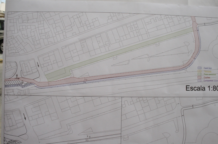 Es modificarà el traçat del carril bici després del vistiplau de Costes