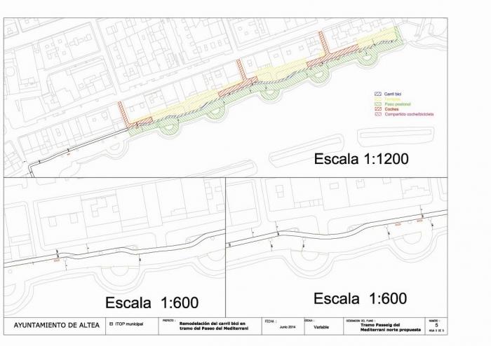 L'Ajuntament prepara la nova ubicació del carril bici en el Passeig del Mediterrani