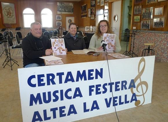 Cultura i la Societat Recreativa Musical d'Altea la Vella presenten el 'XI Certamen de Música Festera'