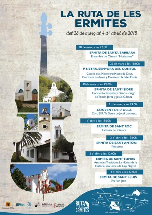 Els concerts de ''La Ruta de les Ermites'' es celebraran del 28 de març al 4 de abril