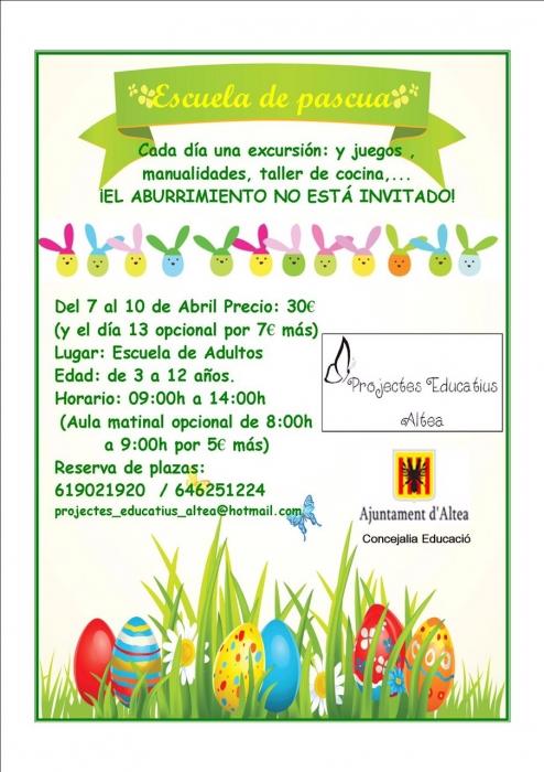 La Regidoria d'Educació presenta l'activitat ''Escola de Pasqua''