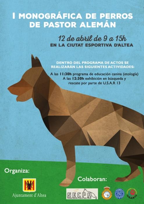 Altea acollirà una exposició nacional de gossos de la raça pastor alemany