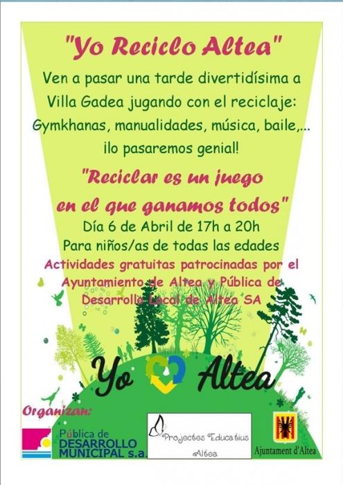 L'Ajuntament organitza una vesprada de jocs per a conscienciar als xiquets i xiquetes sobre el reciclatge