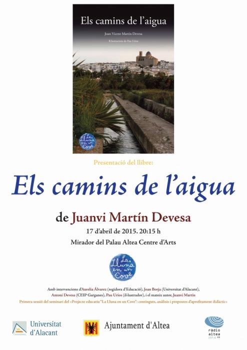 Palau Altea acull la presentació del llibre ''Els camins de l'aigua''