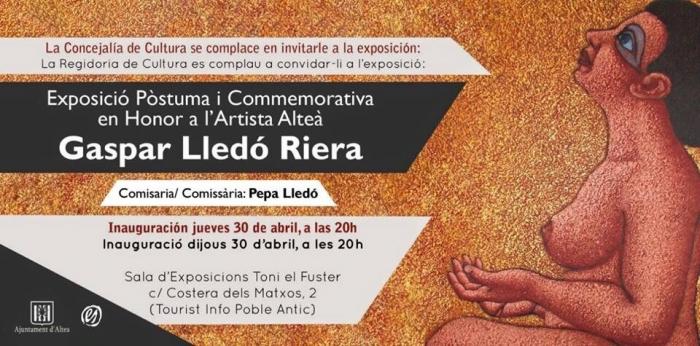 L'Ajuntament homenatja al pintor Gaspar d`Altea amb una exposició antològica de la seua obra