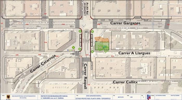 L'Ajuntament sol·licita una subvenció de 240.000 euros per a la reurbanització de l'encreuament dels carrers Garganes i Raspall