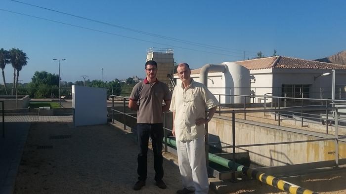 Roque Ferrer visita la depuradora per a conèixer les seues instal·lacions