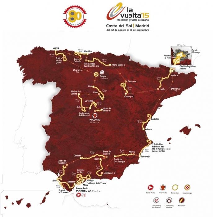 'La Vuelta a España' 2015 passarà per Altea aquest pròxim diumenge