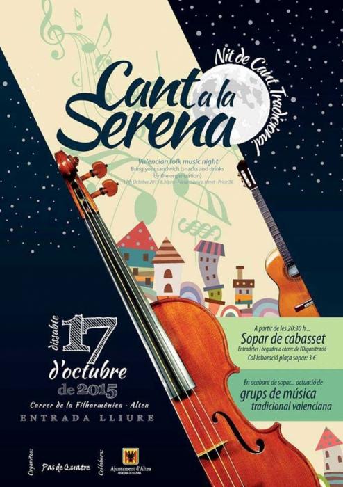El dissabte es celebrarà una nova edició del Cant a la Serena, una nit dedicada al cant tradicional valencià