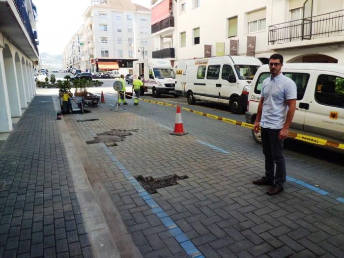 La Regidoria d'Infraestructures repara durant aquesta setmana els desperfectes ocorreguts després de les passades obres de remodelació