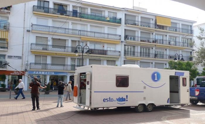 El programa de Televisió Espanyola ''Esto es vida'' grava un reportatge a Altea
