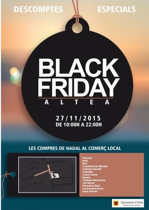 Els comerços de la C/Filharmònica i adjacents celebren aquest divendres el 'Black Friday' amb descomptes i horaris especials