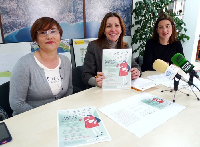Anna Alvado presenta la campanya ''Comerç d'Altea. El comerç del poble''