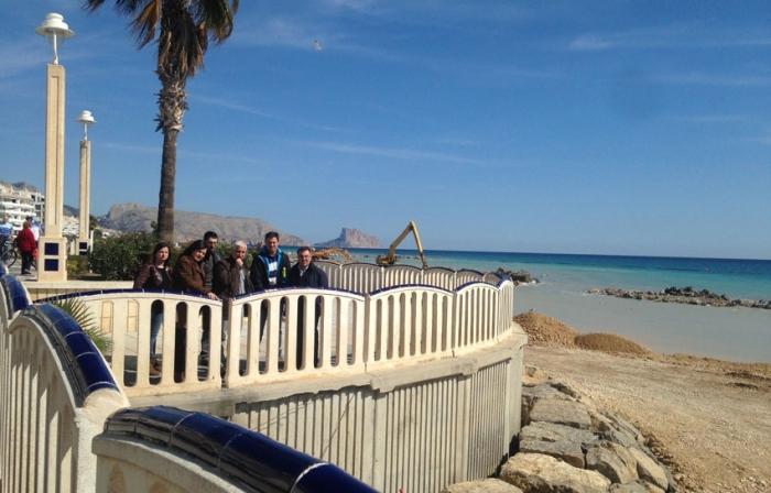 L'Ajuntament supervisa el procés de les obres de la façana litoral
