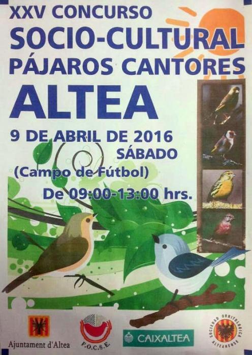Dissabte tindrà lloc el XXV concurs socio-cultural d'aus cantores