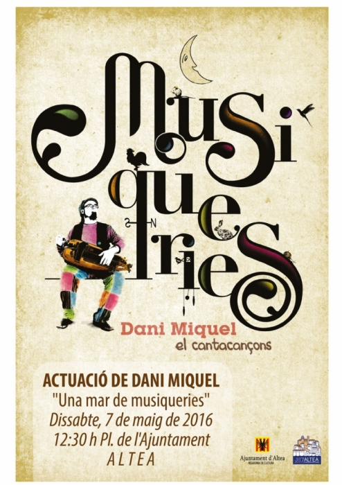 Dani Miquel tancarà el II Curs de Literatura Popular de la Universitat d'Alacant