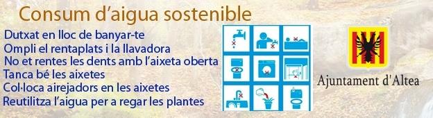 La regidoria de Cicle Hídric inicia una campanya de conscienciació per un ús responsable de l'aigua
