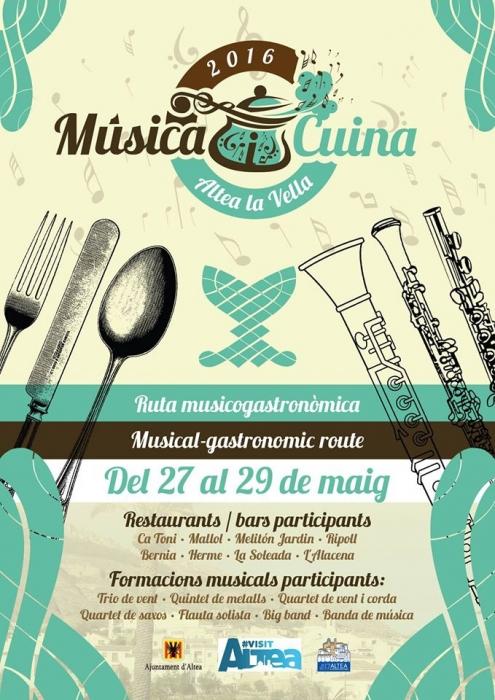 Altea la Vella acull l'activitat ''Música i Cuina'' del 27 al 29 de maig