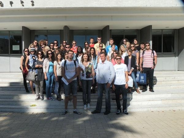 Estudiants Erasmus de la Universitat d'Alacant visiten Altea