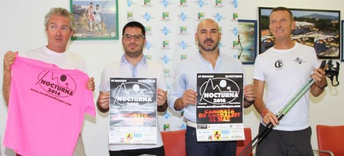 La FENWA i les regidoria d'esports d'Altea i l'Alfàs del Pi han presentat la 9a Caminada Nocturna que tindrà lloc el 16 de juliol