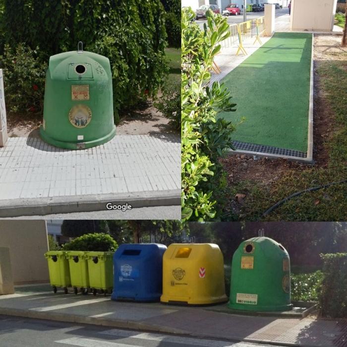 Escena Urbana reubica un punt de recollida de residus que dificultava el pas en el carrer Consell