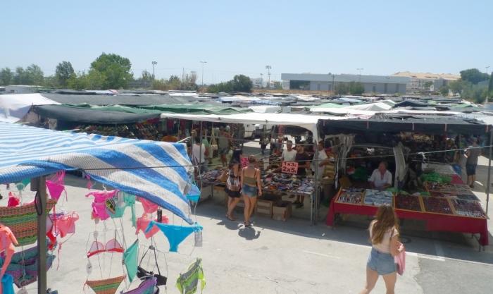 Nova ubicació del mercat de la roba