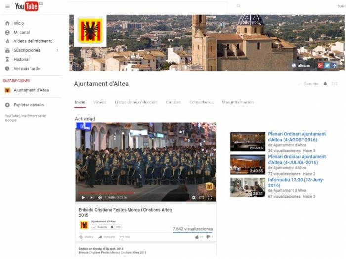 L'Ajuntament emetrà en directe la presentació de vestits i les entrades Mora i Cristiana a través del canal municipal de YouTube