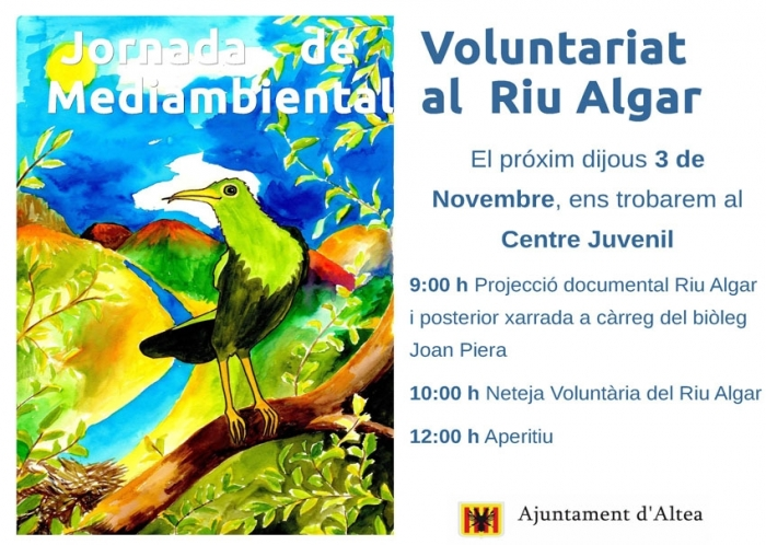 Medi Ambient organitza una Jornada de Voluntariat Mediambiental al Riu Algar