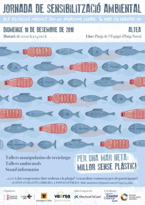 Jornades de sensibilització ambiental Per una mar neta: millor sense plàstic