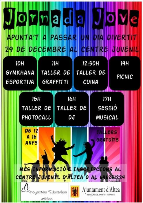 Obertes les inscripcions per a participar en la primera Jornada Jove que es celebrarà el dia 29 de desembre