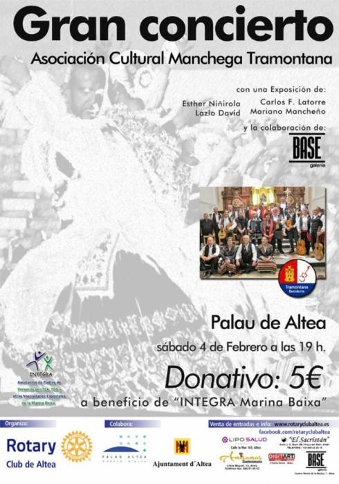 Rotary Club d'Altea organitza un concert benèfic a favor d'Integra Marina Baixa