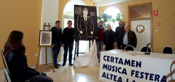 La Societat Recreativa Musical d'Altea la Vella presenta el cartell anunciador del XII Certamen de Bandes de Música Festera