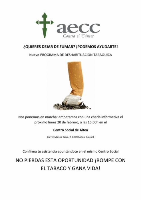Sanitat i l'Associació Espanyola Contra el Càncer presenten una nova edició del programa per deixar de fumar