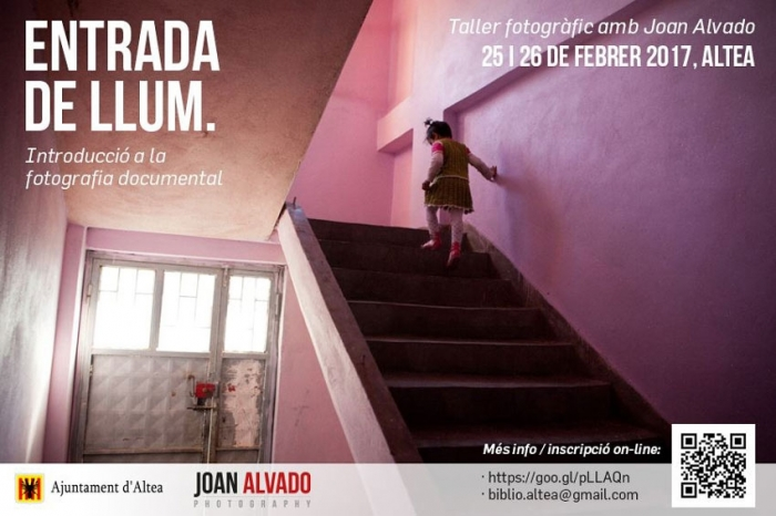 El reconocido fotógrafo, Joan Alvado, impartirá un taller de introducción a la fotografía documental en Altea