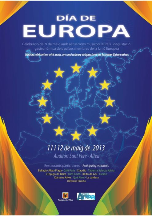 Altea dedica el cap de setmana vinent a la celebració de el 'Dia d'Europa'