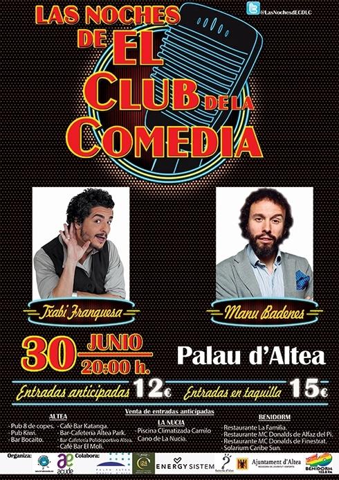 Terra de Comèdia i l'Associació d'Altea ACUDE porta les nits del club de la comèdia a Palau Altea